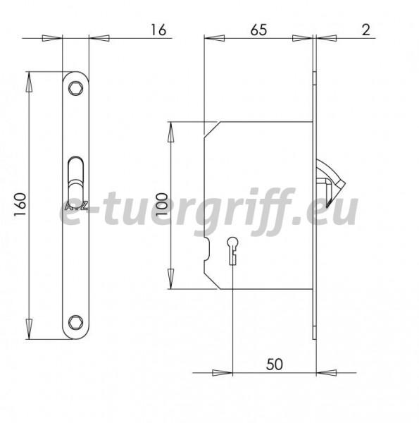 schloss f r schiebet ren mp bb 1175 edelstahl. Black Bedroom Furniture Sets. Home Design Ideas